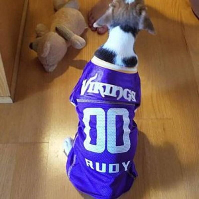 40d1bb223a6 Minnesota Vikings Dog Jersey Personalized XS-XXL NFL Pet | Etsy