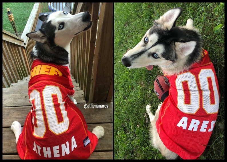 Kansas City Chiefs Dog Jersey Personalized XS-XXL NFL Pet  04c750d70