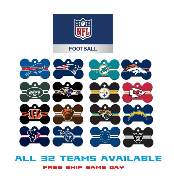 NFL Dog ID Tags and other pets NFL bone shaped and  ed7c027cc