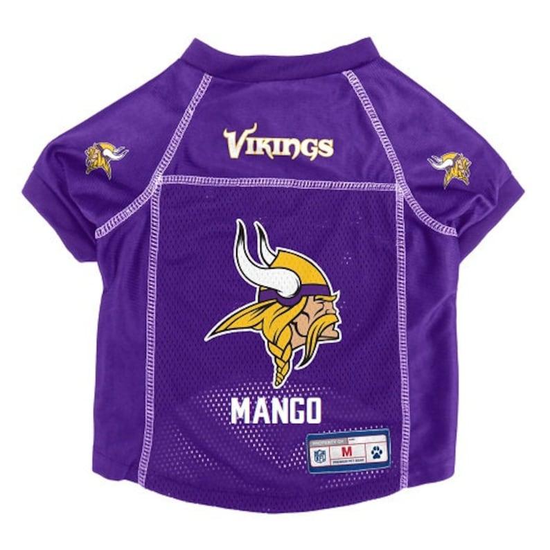 c93ff337895 Minnesota Vikings Pet Jersey Personalized M-XL NFL Pet Clothes | Etsy
