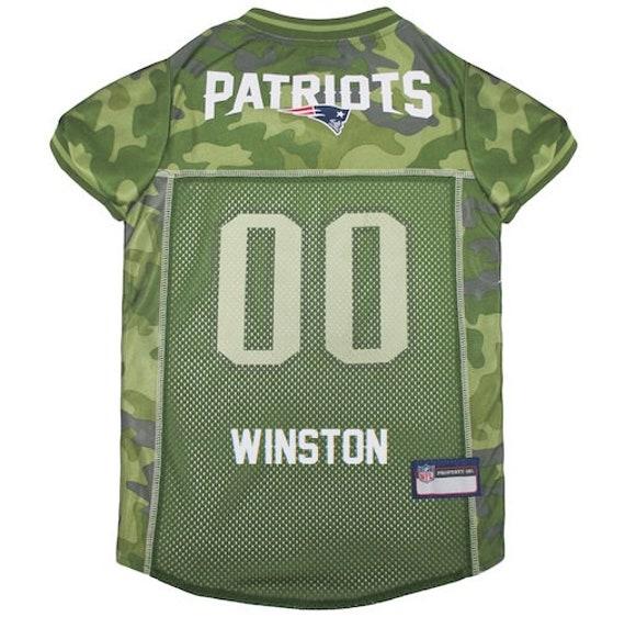 149894e69 New England Patriots Dog Jersey CAMO Personalized M-XXL NFL