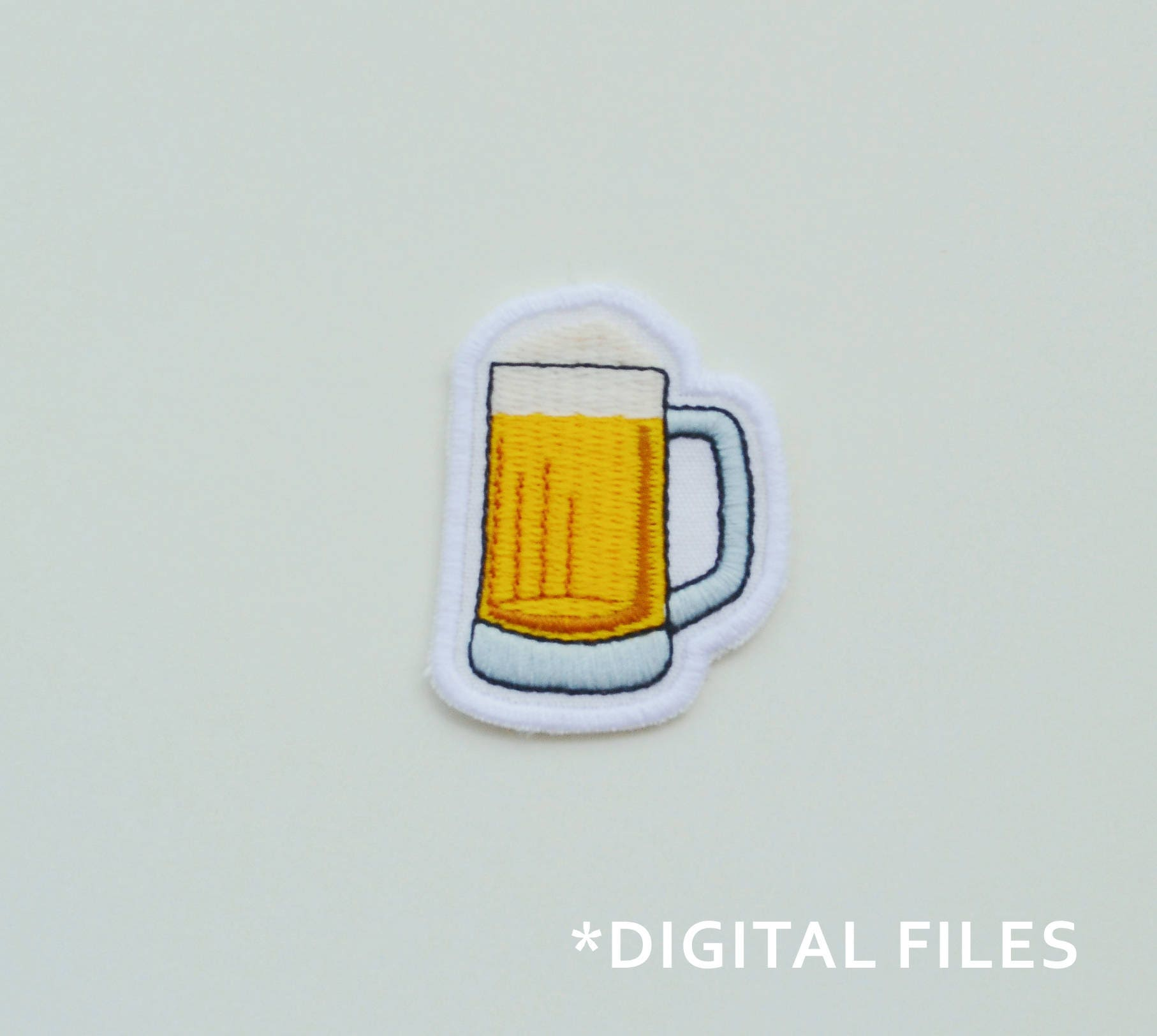Cerveza diseño de bordado a máquina Vaso de Cerveza parche   Etsy