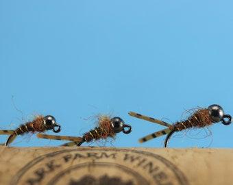 Heavy Metal Band, boxed flies, 24 barbless tungsten flies