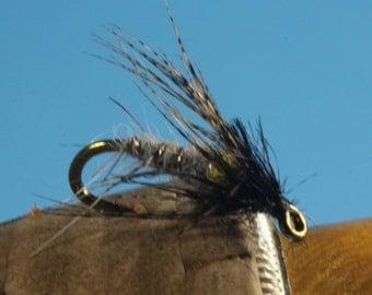 Peeking Caddis, (3 pack) fly fishing fly, hand-tied flies, soft hackle flies, wet flies, Trout flies, nymph flies, Cadddis flies
