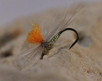 CJ's Sparkle BWO flies, (3 pack) fly fishing flies, hand tied flies, Parachute Blue Wing Olive, dry flies, Trout flies, Mayflies, BWO