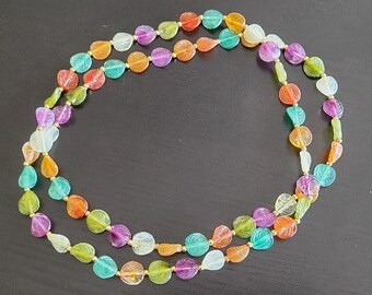 Vintage Blue Thermoset Necklace Vintage Necklace Spring Jewelry Summer Jewelry Vintage Jewelry
