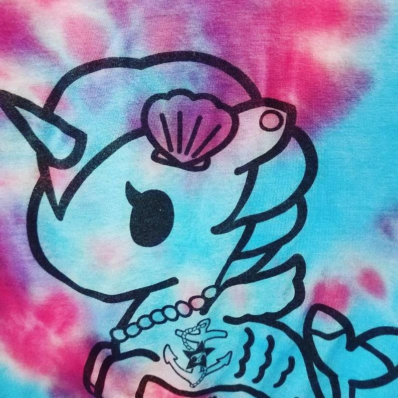 320ff0d4d2b Unicorn Crop Top Mermaid Crop Top Tie Dye Crop Top | Etsy