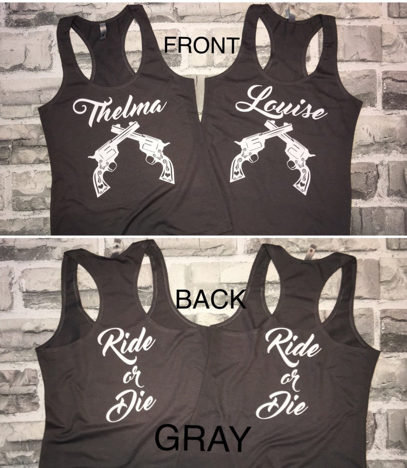 97173429 Thelma and Louise Ride or Die Tank Tops / Gray / Sold as a Set | Etsy