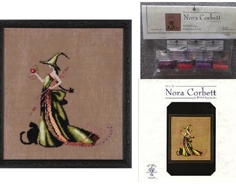 """COMPLETE XSTITCH KIT MATERIALS /""""SILVER MOON TEA MD119/"""" by Mirabilia"""
