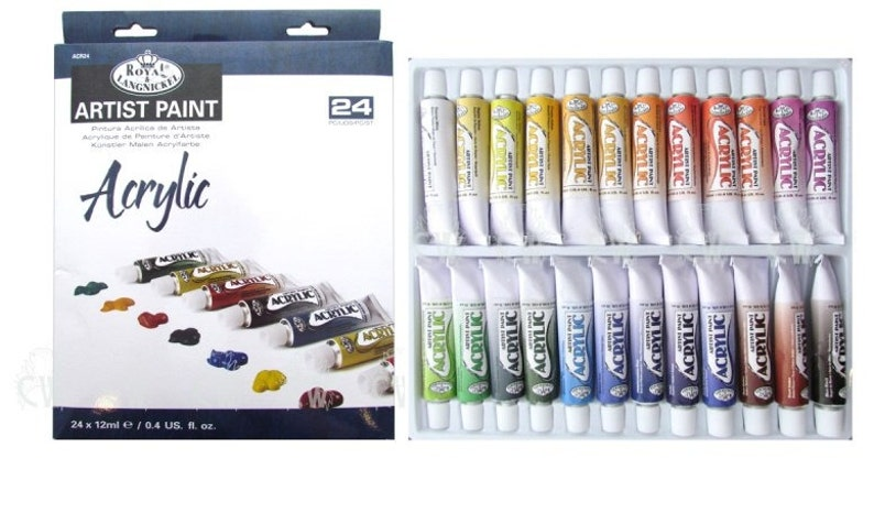 ROYAL LANGNICKEL Acrylic Paint Tubes Art Supplies 24pc Set image 0