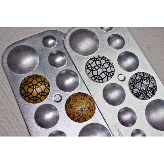 Sculpey Hollow Bead Maker Perfect Domes for Hollow Beads 5 Sizes Polymer Clay