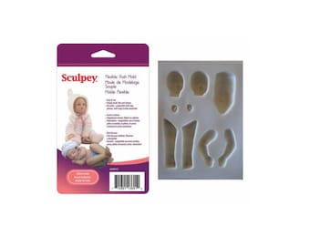 Sculpey Flexible Push Mold INFANT DOLL Polymer Clay Dolls Making Oven Bake Clay