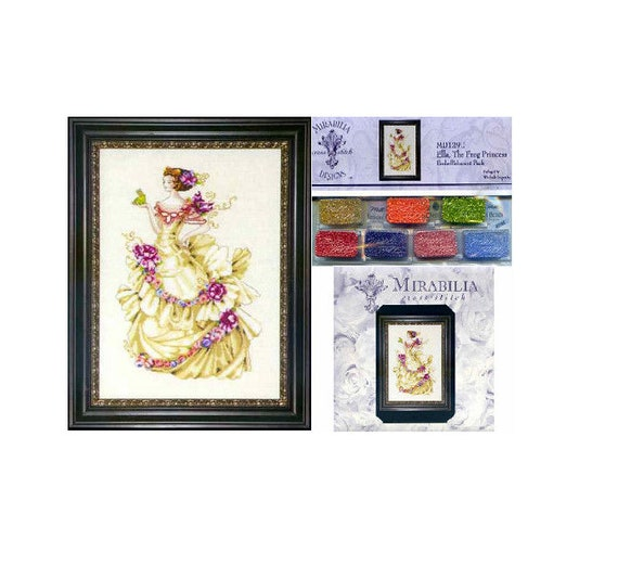 """SALE COMPLETE XSTITCH KIT /""""SLEEPING PRINCESS MD123/"""" by Mirabilia"""