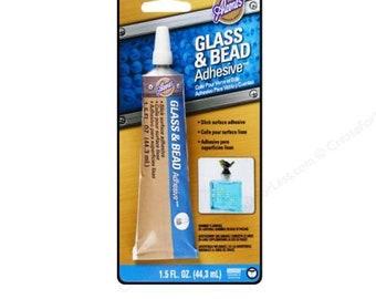 Aleene's Glass & Bead Bond Slick Surface Adhesive Glue 1.5 oz Tube