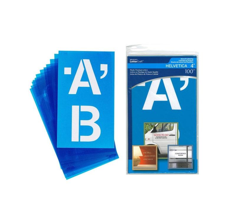 4 inch Plastic LETTER STENCILS Premium Quality Reusable HELVETICA Lettering  Posters