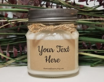 8oz Personalized Soy Candle - Mother's Day Gift - Wedding Candle - Birthday Gift - Custom Message Candle - Personalized Gift - Bridesmaid