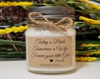 Mother of the Bride Gift from Daughter - Wedding Day Gift for Mom - 8oz Soy Candles Handmade - Wedding Day Gift for Mother - Gift for Mom