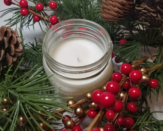 Christmas Candles.Christmas Candles 8oz Personalized Candles Coworker Gift Soy Candles Handmade Gift For Mom Christmas Gift Holiday Candles