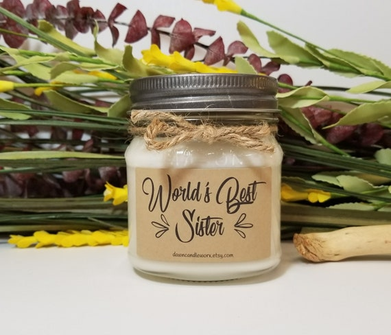 8oz Birthday Gift For Sister Soy Candles Handmade Gift For Etsy