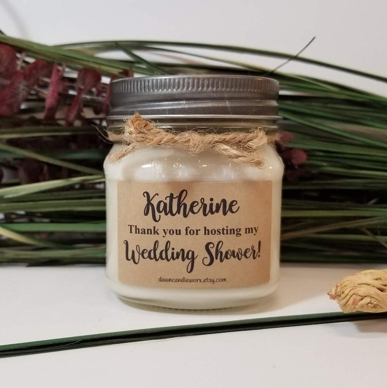 09e8d917ffb Wedding Shower Hostess Gift 8oz Soy Candles Handmade