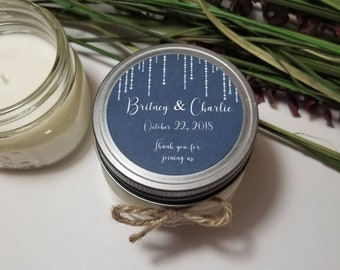 12 - 4 oz Wedding Candle Favors - Personalized Bridal Shower Candles - Gift for Guests - Bridal Shower Prizes - Bridal Shower Favors