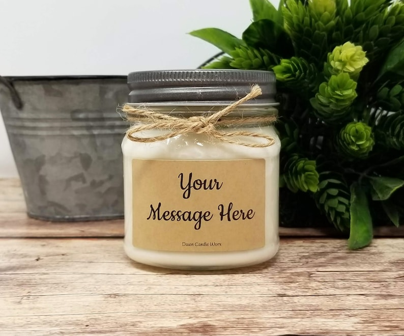 8oz Soy Wax Candle  Gift  for Coworker  Birthday Gift  image 0