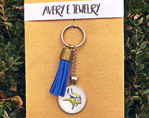 North White Vikings Tassel Keychain
