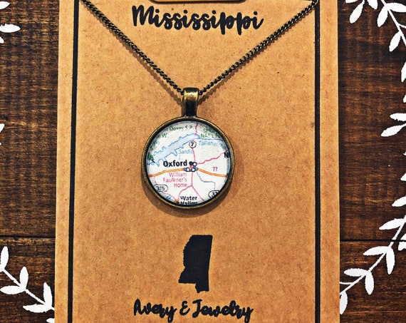 Hometown Map Dot Necklace