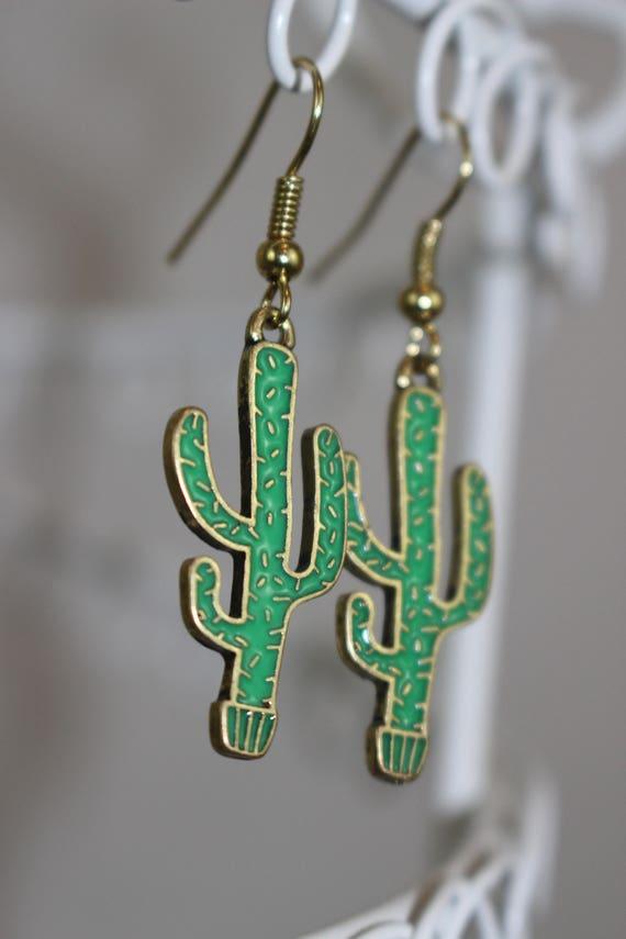 Cactus Drop Earrings
