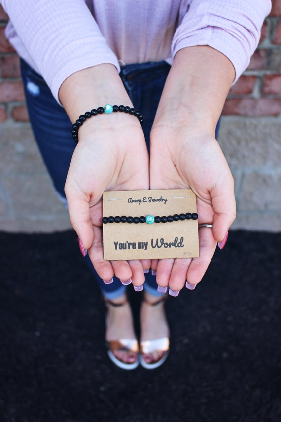 You're My World Beaded Bracelet