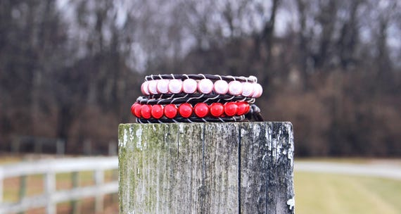 Valentine's Day Edition Unisex Illuminating Wrap Bracelets in Red or Pink
