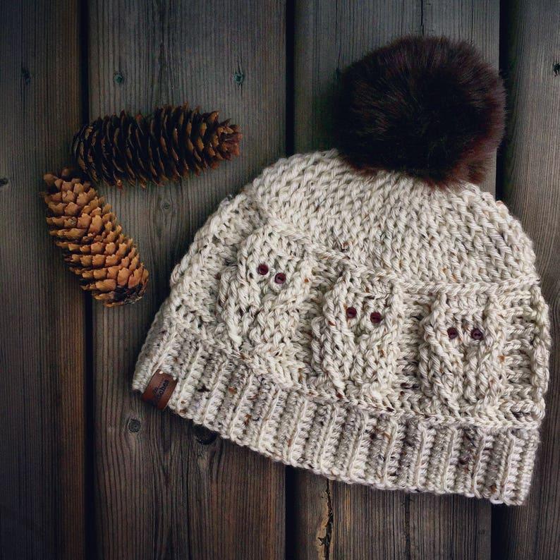 6e6a5385a6c CROCHET HAT PATTERN  Love of Owls Hat Crochet Hat Crochet Beanie