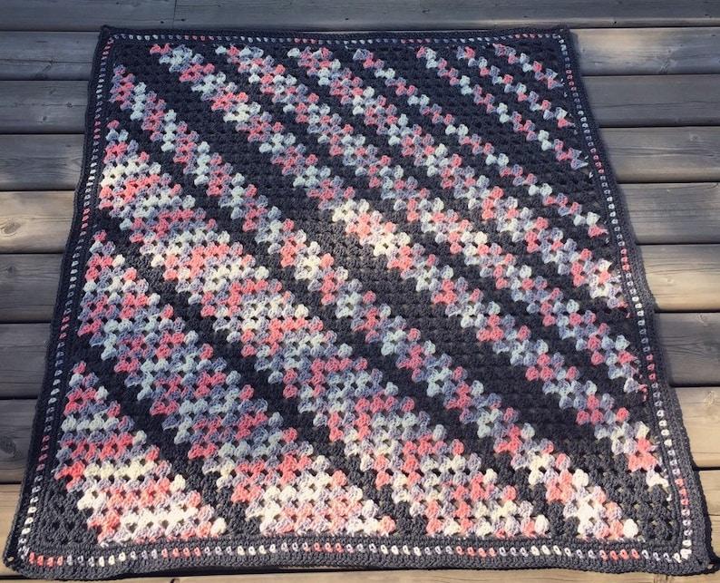 Crochet AfghanCrochet BlanketGranny Stitch BlanketBlanketThrowCrochet ThrowDiagonal StripesMulti ColoredFor Her