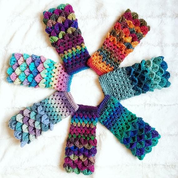 Crochet Pattern Erebor Dragon Scale Fingerless Glovesdragon Etsy