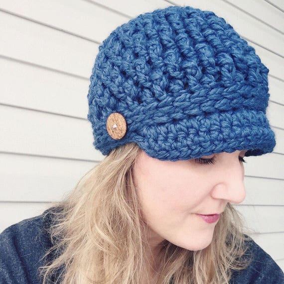 NEWSBOY HAT PATTERN Cozy Textured Newsboy Hat Pattern Crochet  7f1177ce26c