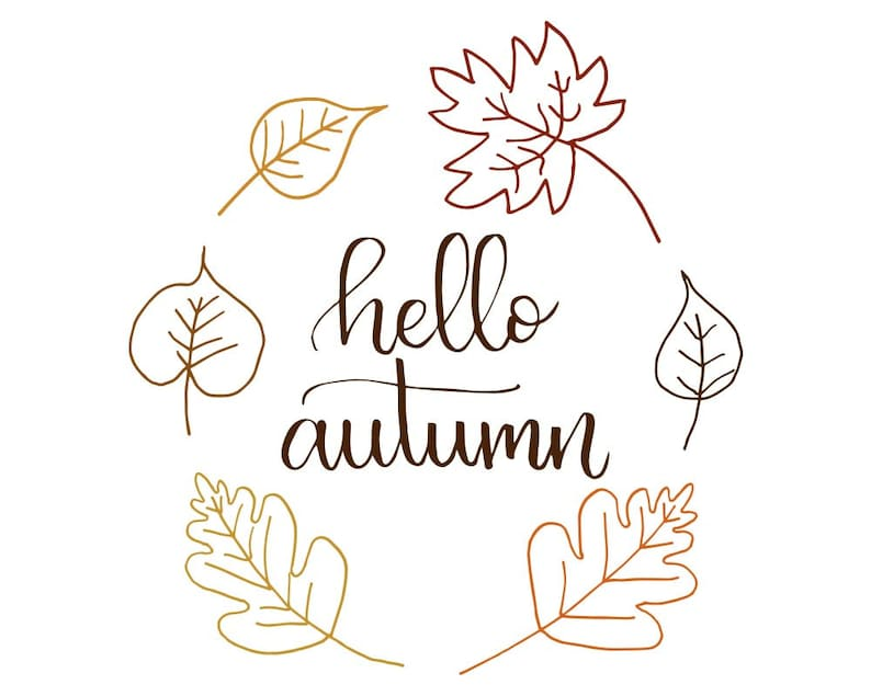 photo regarding Autumn Printable named Good day Autumn, Drop Printable, Autumn Print, Slide Wreath, Printable Typography, Wall Artwork, Tumble Decor, Wall Sayings, Business Decor, Estimate Print