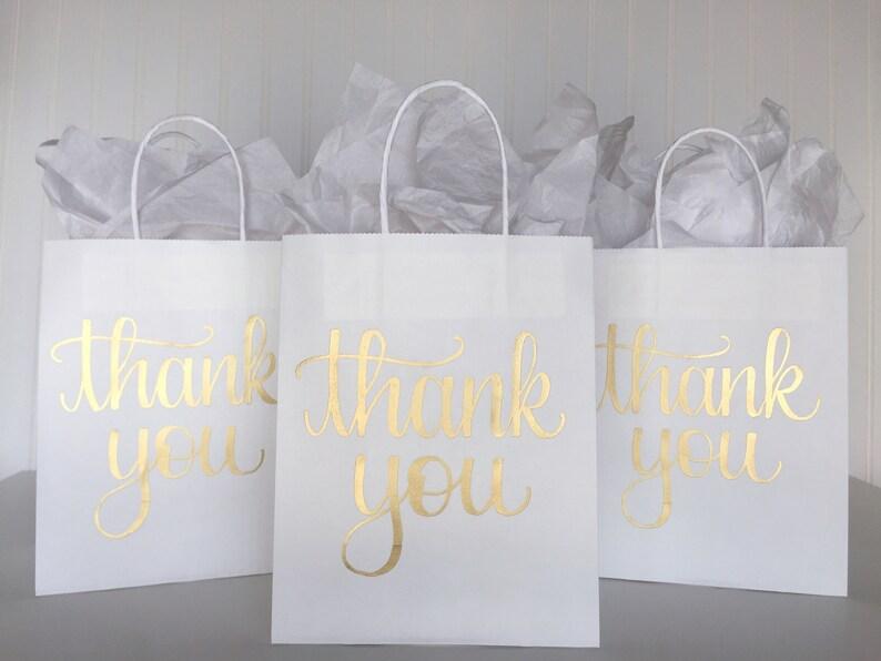Thank You Gift Bag Birthday Favor Custom