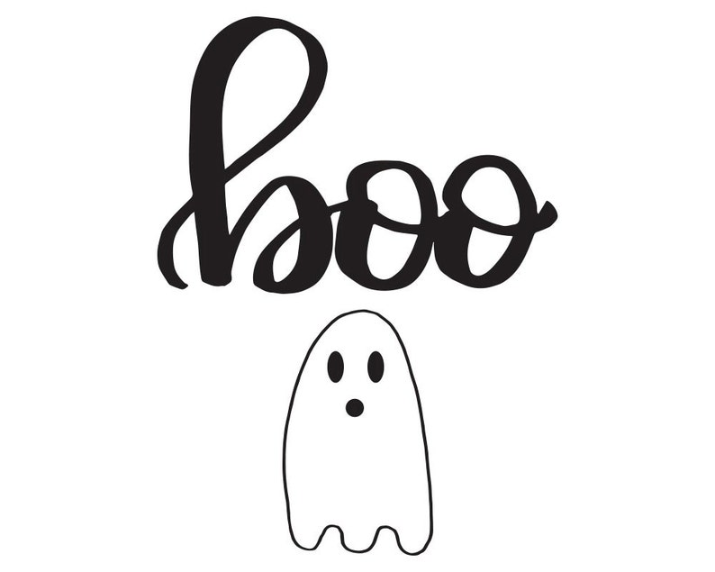 photo about Printable Ghost referred to as Boo Print, Halloween Printable, Ghost Print, Halloween Decor, Hand Lettered Wall Artwork, Printable Artwork, Slide Printable, Wall Decor, Dorm Decor