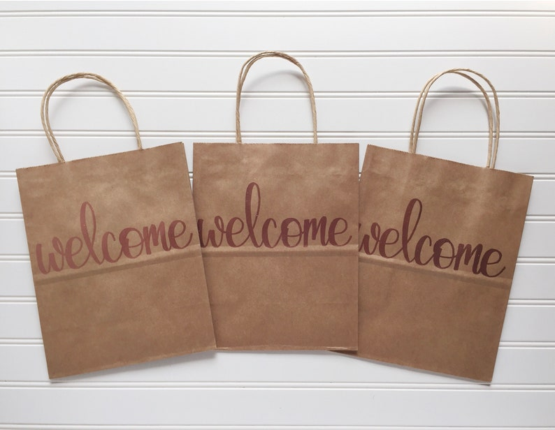 Welcome Gift Bag Welcome Bag Wedding Guest Gift Embossed Etsy