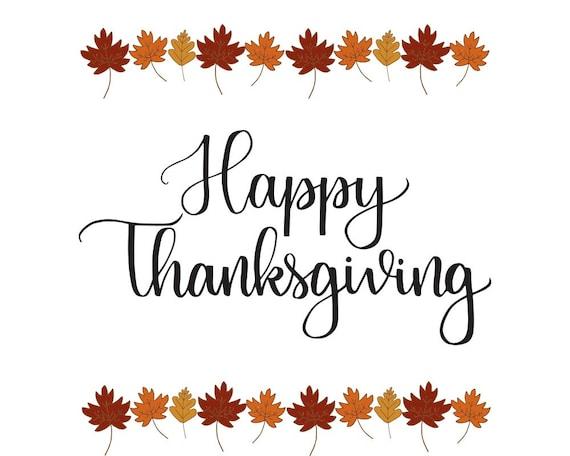 Happy Thanksgiving Print Thanksgiving Printable Holiday | Etsy