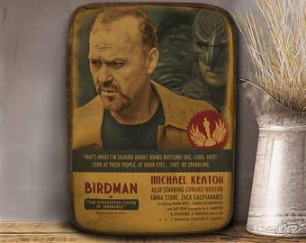Birdman, Michael Keaton, Wooden plaque