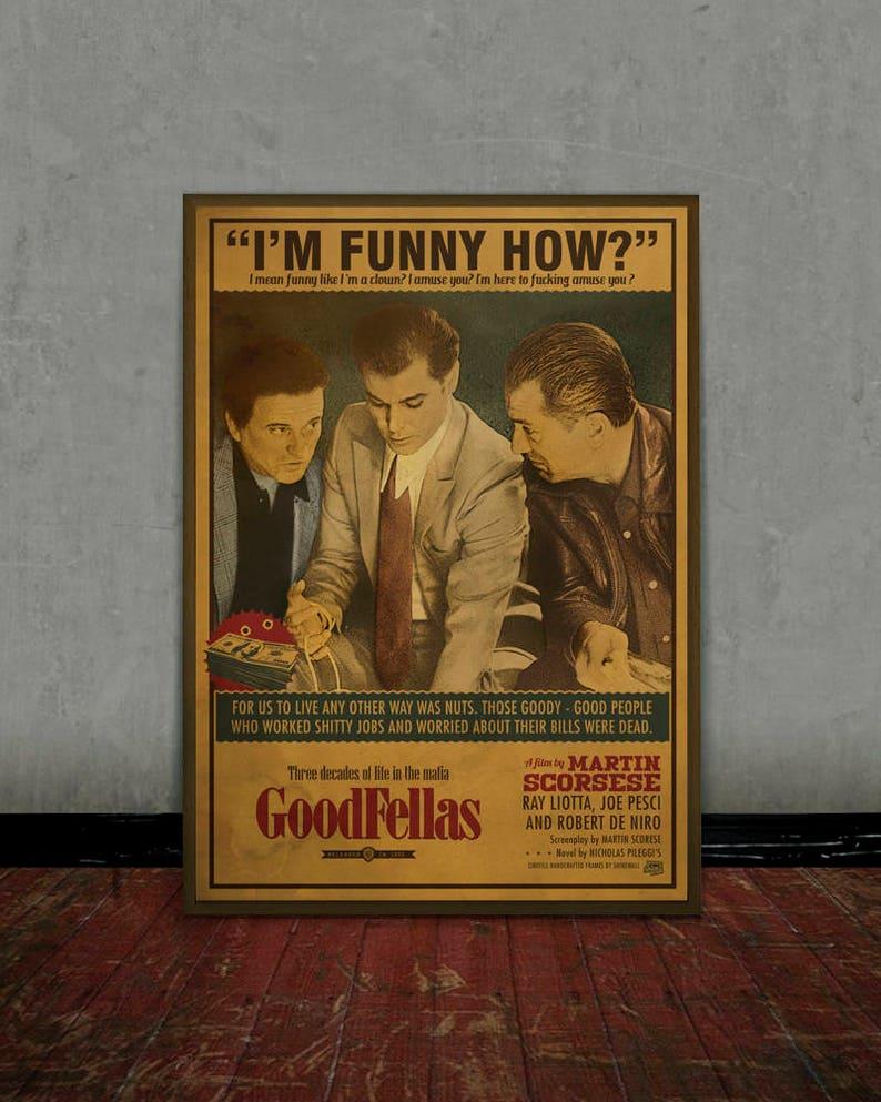 Goodfellas Scorsese Colored retro classic movie poster  28f4c8d8ca810