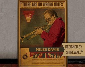 Jazz vintage poster, Music retro art print