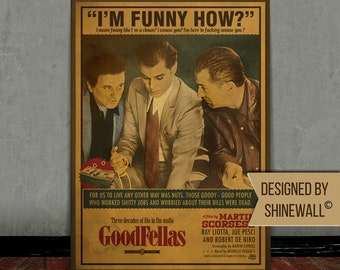 Goodfellas, Scorsese, Retro movie poster