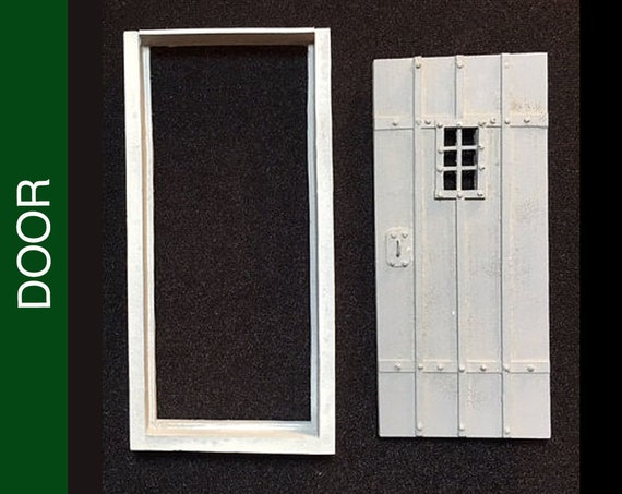 308 Sq Top Door W Frame Hinge Plates And More Details Etsy