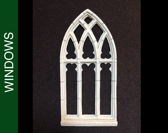 202 Large Pointed Gothic Stone Traced Dollhouse Window Etsy