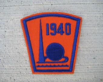 Original 1939-1940 NY World's Fair Patch