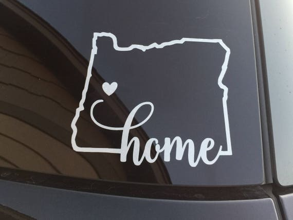 Oregon home car decal eugene oregon decal home sticker