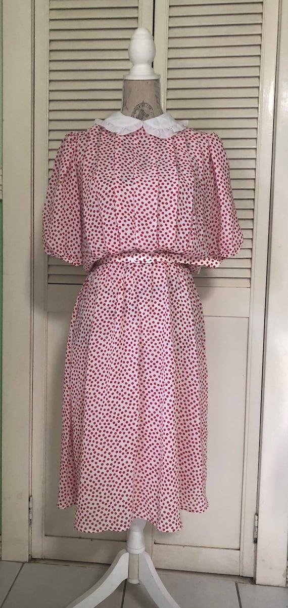 1980s polkadot dress