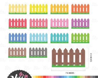 30 Color Fench Clipart - Instant Download